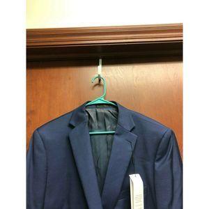 Calvin Klein Suits & Blazers - Calvin Klein Blue Blazer 44S Stretch Wool Slim Fit